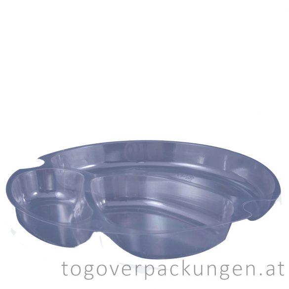 Schaleneinsatz für 750 - 1000 ml Salatschale, rund, transparent / 100 Stück