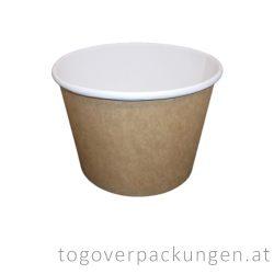 Kraftkarton-Schale 900 ml, braun-weiß / 50 Stück