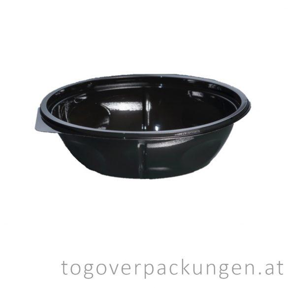 Salatschale, rund, schwarz, 500 ml / 75 Stück