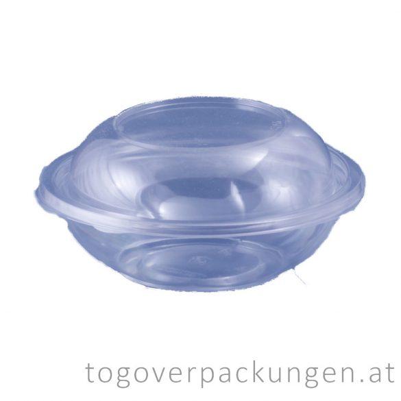 Salatschale, rund, transparent, 750 ml / 75 Stück