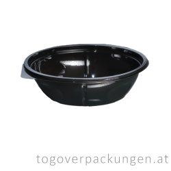 Salatschale, rund, schwarz, 1000 ml / 75 Stück