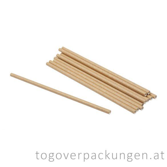 Abbaubare Strohhalme aus Kraftpapier - natur / 100 Stück
