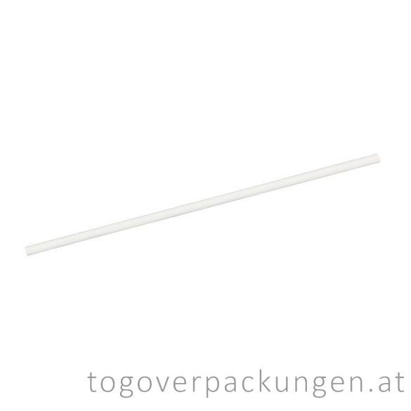 Abbaubare Strohhalme aus Papier - weiß / 100 Stück