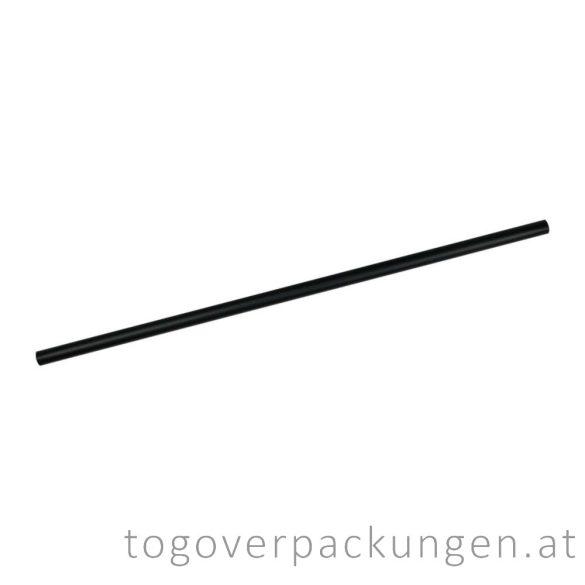 Abbaubare Strohhalme aus Papier - schwarz / 100 Stück