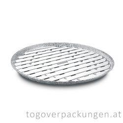 Grill-Aluschale - rund, 340 mm