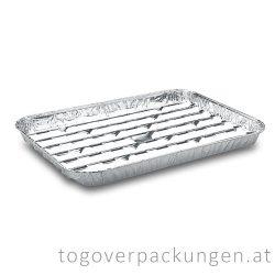 Grill-Aluschale - eckig, 340 x 220 mm