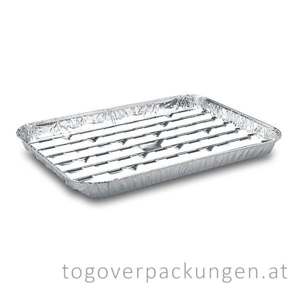 Grill-Aluschale - eckig, 340 x 220 mm / 5 Stück