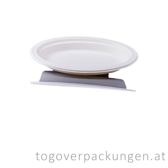 Kompostierbar Zuckerrohr Teller, 230 mm / 125 Stück