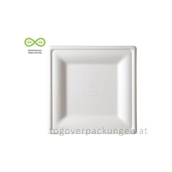 Kompostierbar Zuckerrohr Teller 200 x 200 mm / 50 Stück