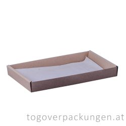 Papier für Food Tray - mittel, 259 x 164 x 30 mm / 200 Blatt