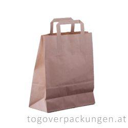 Recyclebare Papiertasche, 180 x 220 + (80) mm / 500 Stück